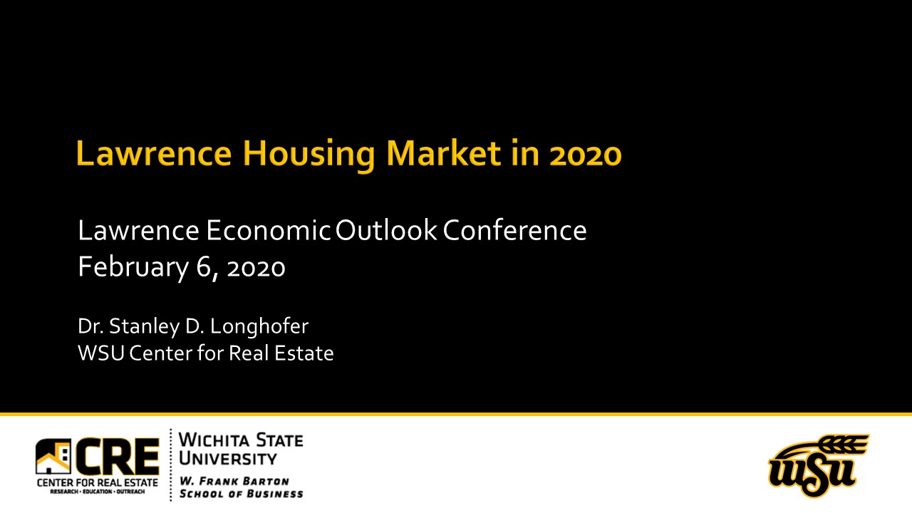 Lawrence Outlook Conference Presentation